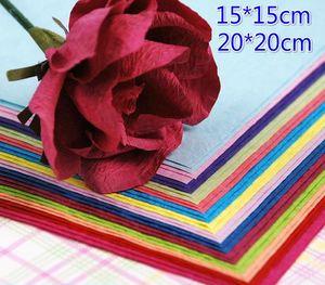 140 pz 15 * 15 cm 20 * 20 cm 14 colori FAI DA TE Multi-color Origami di Carta FAI DA TE Fiore Rosa FAI DA TE Fatti A Mano Pieghevole Rosa Regalo di Carta