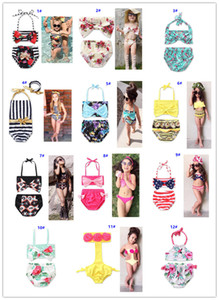 13 Style Baby Girl Kids Bikini Summer Girl Costume da bagno a fiori Piccolo Fresh Sling Due pezzi Set costume da bagno