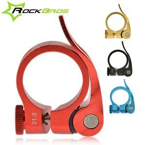 ROCKBROS Alüminyum Ultralight Hızlı Bırakma Yol Bisikleti MTB Dağ Bisiklet Koltuk Mesaj Seatpost Kelepçe 31.8 34.9mm 40 g, 4color toptan