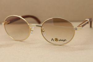 ديكور الخشب الإطار 7550178 مثمن النظارات الشمسية الخشب جولة نظارات الشمس نظارات الرجال الشهيرة الفضة الذهب إطار معدني ج الدي الديكور الحجم: 55-22-135