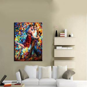 Çerçeveli Tango Dansçı, Saf El Sanatları Modern Soyut Sanat yağlıboya, Ev Duvar Dekor Yüksek Kalite Tuval üzerinde boyutu özelleştirilebilir