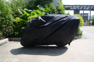 Cobertura para motos Preto À Prova D 'Água À Prova de Poeira Protetor para 104in Motocicleta Harley Davidson BMW Cobertura de Moto XX-Grande Capa