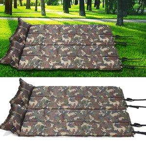 Atacado-HW2016 NOVA chegada dobrada camuflagem Camping Tent Mat Automatic Colchões Almofada Inflável