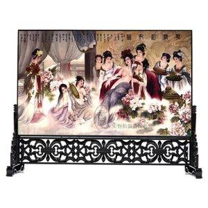 O envio gratuito de tela de laca de madeira ornamentos Home Furnishing Hotel Decor negócios estrangeiros no exterior para enviar presentes estrangeiros