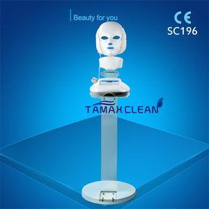 LM002 3 컬러 광 역학 LED 적외선 얼굴 목 마스크 피부 마이크로 서커트 마사지 젊어 짐 노화 방지 미용 치료 가정용 클리닉