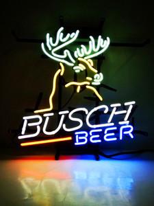 Nuovo pneumatico Tat Neon Beer Sign Bar Sign Vetro Real Light Neon Light Registrati ME 115 Busch Beer 17 * 14 pollici