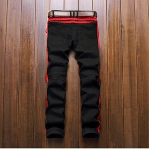 Famous Designer Men Blue Bieber Pants Brand Jeans Fear Of Mens Ripped Jeans KANYE Rock God Star Justin Designer Denim Male Jumpsuit Xojmo