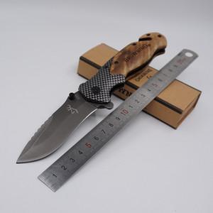 Browning X50 Cuchillo Cuchillo de bolsillo plegable táctico al aire libre 440C Cuchilla de acero Mango de madera Cuchillos de supervivencia Cuchillo de caza Pesca para acampar Herramienta EDC