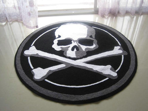 El Çatlak Cadılar Bayramı Korkunç Kafatası Mat Oturma Kapı Paspaslar Halı Malzemeleri, Işlemeli Sundurma Paspas Zemin Halı Ev Dekorasyon Festivali Hediye