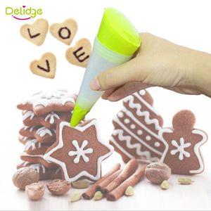 Delidge 20 adet Kek Decortion Kalem Silikon Kek Tatlı Dekoratörler Pasta Plaka Boya Kalem Krem Çikolata Şırınga Silindir
