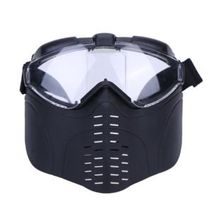Al por mayor - Mascarilla anti-impacto al aire libre Caza Casco protector táctico Máscaras tácticas defensivas y ofensivas Escudo máscara de ciclismo