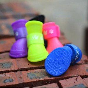 المطاط المياه واقية أحذية أحذية الجوارب لطيف عدم الانزلاق الملونة كلب أحذية للماء أحذية المطر ل زائد pet القط الكلب xl xxlp0101