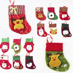 حقائب زينة عيد الميلاد الجديدة Santa Claus Snowman Kitchen حامل أدوات المائدة سكاكين الشوك حقائب عيد الميلاد زينة B0943