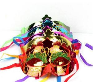 Vénitien Beauté Prince Princesse Masque Masque Moitié Masque Glittear Mardi Gras Halloween Ball Mask Taille Unique Taille (Couleur Assortie)