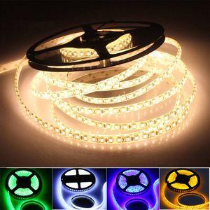 5m / lot 600leds 3528 2835 Bande lumineuse à LED smd ruban blanc / chaud blanc / bleu / vert / rouge / jaune luminaria DC12V 120leds / m Ruban à LED flexible