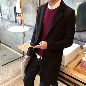 Wholesale- TG6107 Cheap wholesale 2016 new Paragraph dust coat grows in the men's plus-size woollen overcoat woolen cloth coat