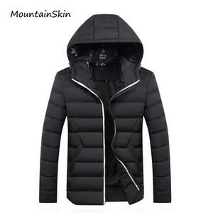 Gros-Mountainskin 2017 nouveaux hommes veste d'hiver mode chaud épaisse mâle Parkas hommes Casual thermique hommes manteaux de marque vêtements LA198