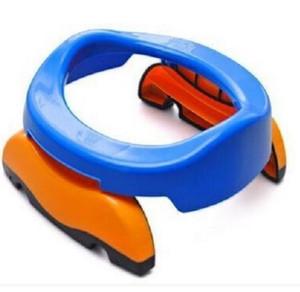 Novo Portátil Do Bebê Infantil Câmara Dos Potenciômetros Foldaway Toilet Training Seat Potty Anéis de Viagem Com saco de urina Para Crianças Azul Rosa