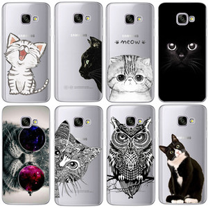 Coque для Samsung Galaxy S3 S4 S5 S6 S7 Edge S8 Plus A3 A5 2016 2015 2017 prime J1 J2 J3 J5 J7 Case TPU Силиконовая крышка Cat Fundas