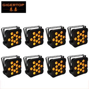 TIPTOP TP-G3045-5IN1 8 Confezione Proiector Par EFF lumini Led piatto luce par RGBWA 15WX12 professionale Slim Par Cans 5IN1 Colore