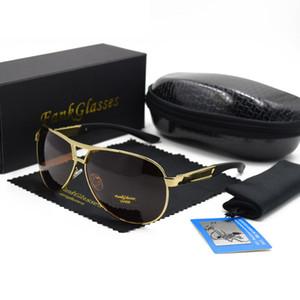 Designer de marca dos homens óculos polarizados Revestimento Espelho Óculos de Sol oculos Masculinos Óculos Acessórios Para Homens F8005