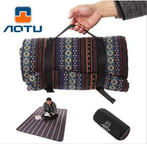 Оптовая продажа-новый AOTU 140*200 см холст губка открытый пикник кемпинг коврик влаги пляж подушка палатка Pad пешие прогулки детские игры коврик одеяло