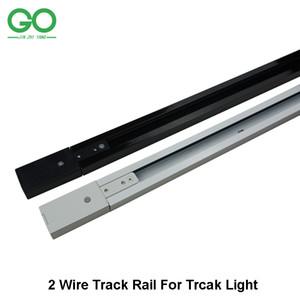 1 m LED parça hafif raylı parça aydınlatma armatürü ray parça aydınlatma için Evrensel raylar 2 Telli Sürüm Düz Köşe 3-way 4-way Bağlayıcı