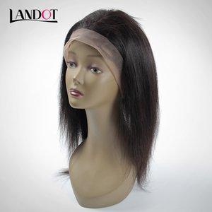 360 Lace Frontal Closure 22 * 4 * 2 Size Brasileño Peruano Malasio Camboyano Mongol Straight Virgin Hair Frontal Closures