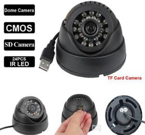 홈 보안 카메라 캠코더 24 Leds IR 야간 투시경 실내 USB 돔 CCTV 카메라 보안 감시 검정 흰색