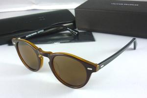Oliver Peoples Sonnenbrillen braun Gregory Peck Sonnenbrillen werden mit Box geliefert