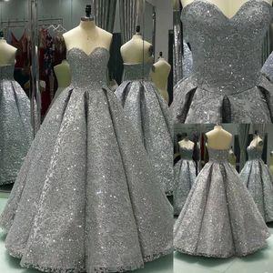 Langes Ballkleid Shiny Winter Formale Silber Pailletten Abendkleid Bodenlangen Bling Bling Abendkleider langes Partykleid