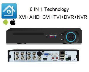 H265 Xmeye 6IN1 8CH 1080N @ 12FPS / CH AHD DVR NVR XVR CCTV 1080P HDMI выход Гибридный регистратор безопасности Onvif Coxial Control P2P Cloud