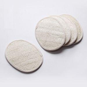 13 * 18cm di forma ovale luffa naturale pad scrubber rimuovere i morti vasca pelle doccia faccia luffa spugna