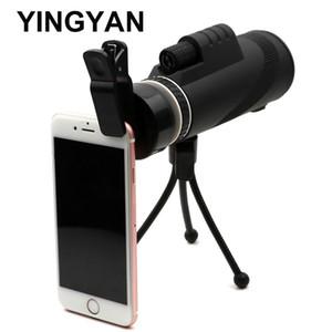 휴대 전화 망원경 35X50 HD 모든 광학 녹색 필름 쌍안경 망원경 사냥 monocular 망원경 telescopio profissional