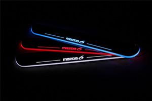 Travesaño de acrílico ultrafino impermeable Bienvenido Luz Ligero Placa de la puerta del pedal del travesaño Para Mazda 6 2013 2014 2015, travesaño de la puerta