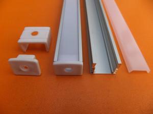 2.5m / pcs Perfil LED de aluminio de la serie 6063 de venta caliente para tira LED, barra de luz LED Perfil de extrusión de aluminio para luz de pared o techo