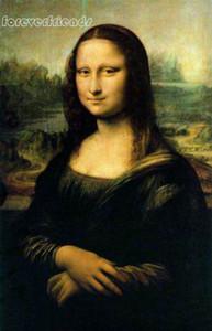 Frete grátis, lotes por atacado pintura a óleo Artesanato Art On Canvas: beleza Mona Lisa Sorriso, todo o tamanho personalizado aceito