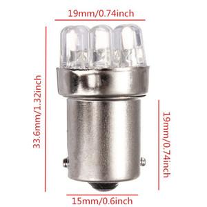 2 PCS / LOT Vente Chaude BA15S 1156 9 LED Voiture Auto Source de Lumière Tail Brake Clignotant Parking Ampoules Lampe P21W Ambre Jaune Blanc DC12V