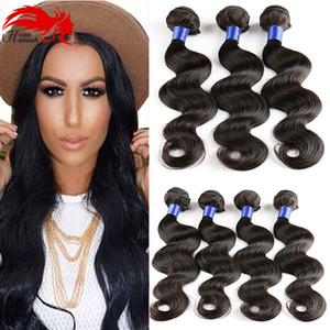 Hannah product Brazilian Body Wave 3Bundles Бразильская шерстяная нить из норки Дешевые бразильские волосы для волос из волос Virgin Remy Human Hair