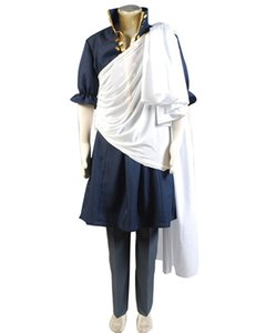 Maledizione Anime Halloween Fairy Tail The Black Wizard Zeref Costume Cosplay Mantello Uniforme per Halloween Party