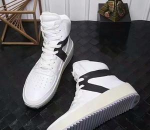 Botas militares de Justin Bieber de Fear Of God Zapatos FOG Zapatos de cuero genuino de calidad superior Hombres Botas casuales Botas de tobillo de invierno