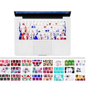 Silikon-Blumen-Abziehbild-Regenbogen-Tastatur-Abdeckungs-Tastatur-Haut-Schutz für Apple Mac Macbook Pro 13 15 17 Air 13 Retina 13 US Soem