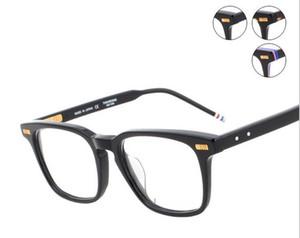 2017 Modası Yeni Erkekler Kadınlar Optik asetat reçete gözlük Kare tb402 TB-402 Miyopi Göz gözlük Çerçeve Gözlük TB-402A gözlük