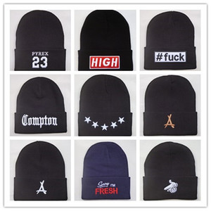 Yeni Geliş Compton Pyrex 23 Tha Mezunları son krallar 40 OZ NYC bere şapka hip hop yün kış şapka pamuk erkekler kadınlar için sıcak kapaklar örme
