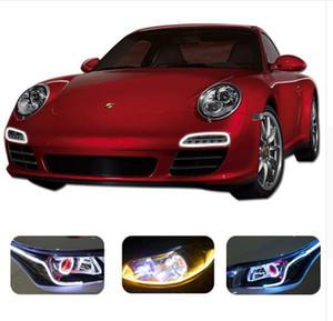 Tira de tubo de barra LED DRL cambiable de 60 cm Luz de conducción diurna flexible Accesorios de diseño de coche para Ford BMW e46 e39 Toyota vw