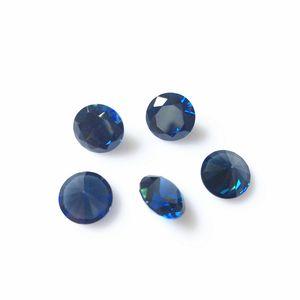 Zafiro de color 50 unids / lote corte redondo sueltos circonitas puntiagudas de piedras preciosas artificiales decoración de piedras preciosas de alta calidad