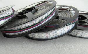 Бесплатная доставка горячая 120 светодиодов / м светодиодная лента 5050 DC12V или DC24V силиконовая трубка водонепроницаемый гибкий светодиодный свет двухрядный 5050 светодиодная лента 5 м / лот