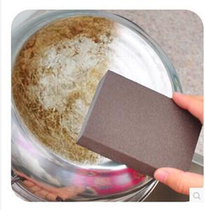 10 Stück Diamant Sand Schwamm Magic Schwamm Radiergummi Geschirrspülen Entkalken Reinigung Magie reiben Boden des Topfes aus feinem Sand Schwamm