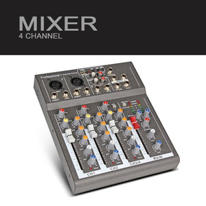 Freeshipping Y.M.H 4 Channel Mixer F4 Para Stage Home Karaoke DJ show com 48V Phantom power USB eco efeito de áudio voic