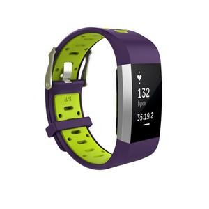 교체 용 스트랩 Fitbit Charge 2 용 듀얼 컬러 2 Soft 실리콘 시계 밴드 Fitbit Charge2 용 밴드 손목 착용 가능 장치 액세서리
